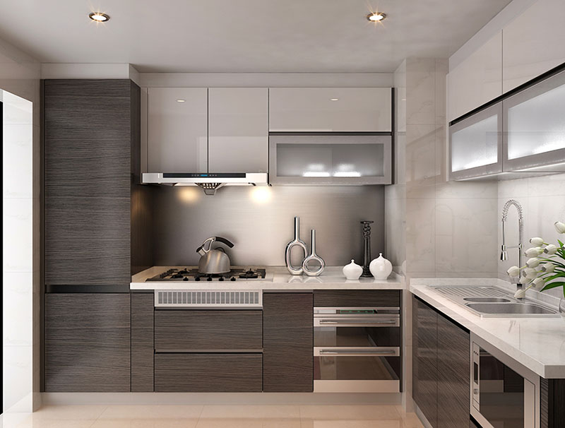 High Quality Oem Supply High Gloss Kitchen Cabinets Luxury